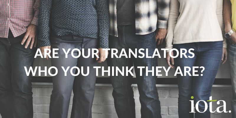 What do you know about the translators working on your stuff….?