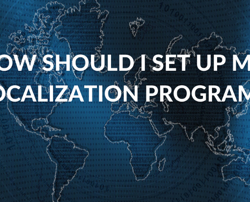 What's the best way to set up a software localization program?