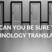 Terminology and why it should differentiate your company