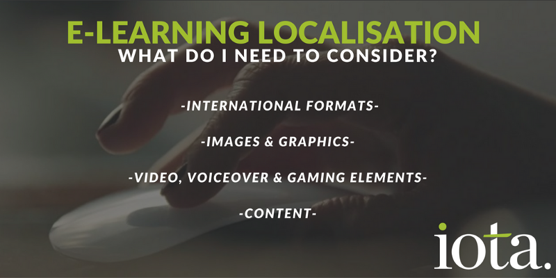 Early considerations when developing global e-learning programmes